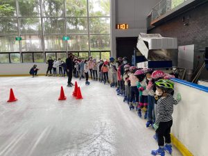 Skaters lined up